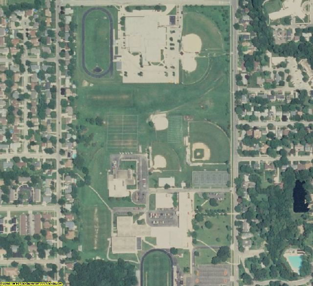 Grundy County, IL aerial photography detail