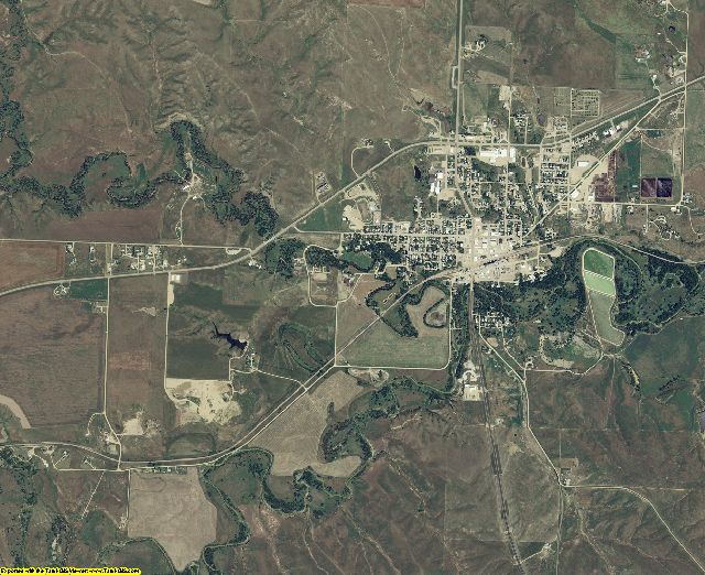 Haakon County, South Dakota aerial photography