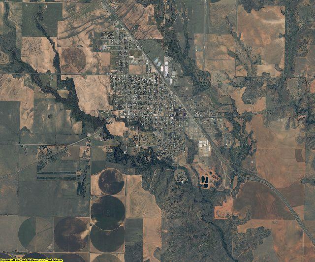 Hall County, Texas aerial photography