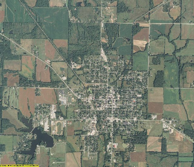 Hamilton County, Illinois aerial photography