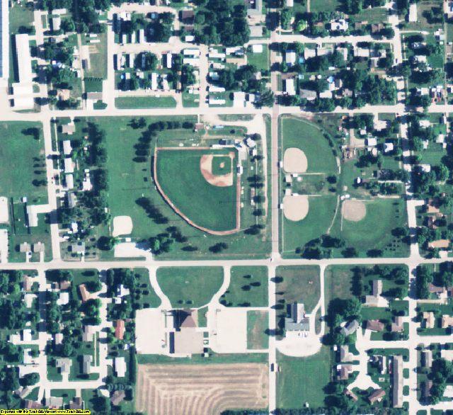 Hamilton County, NE aerial photography detail
