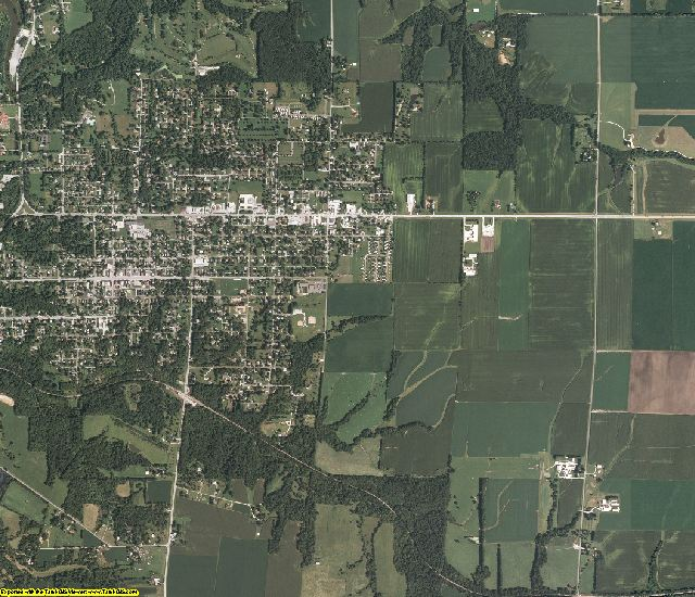 Hancock County, Illinois aerial photography