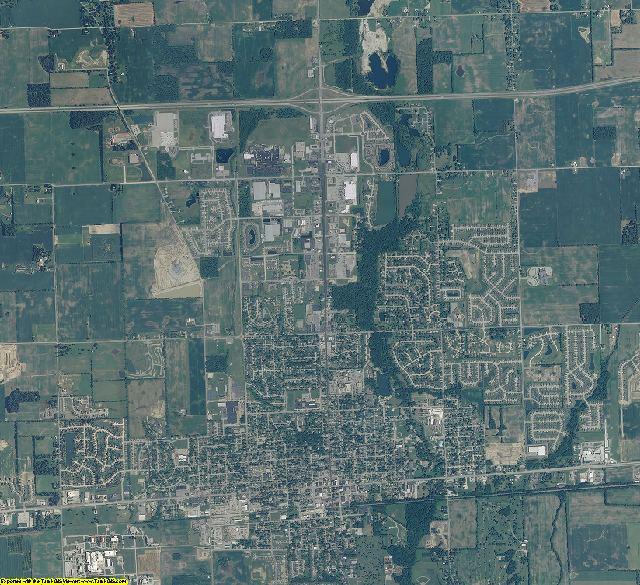 Hancock County, Indiana aerial photography