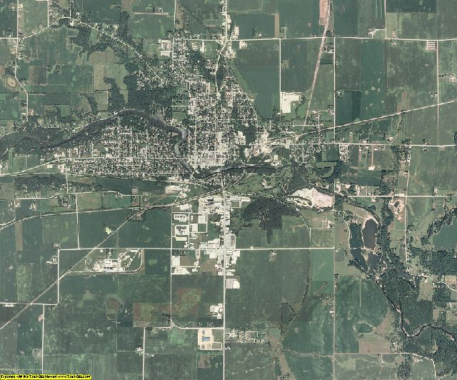 Hardin County, Iowa aerial photography