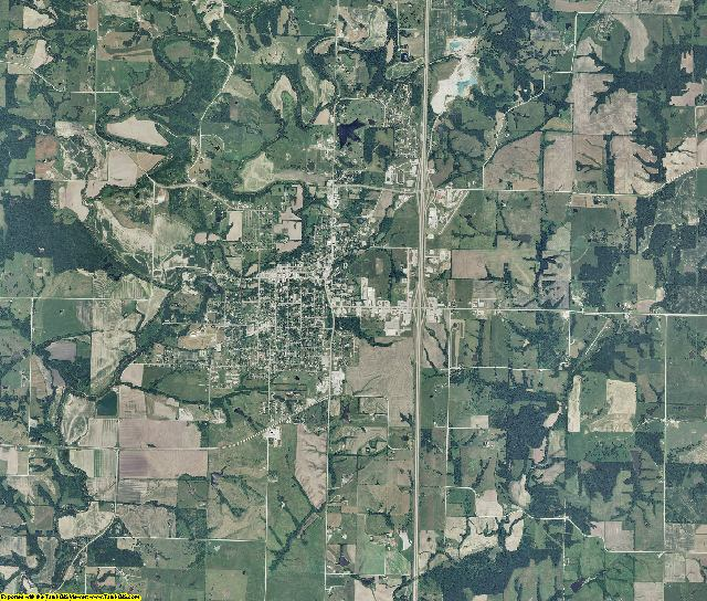 Harrison County, Missouri aerial photography