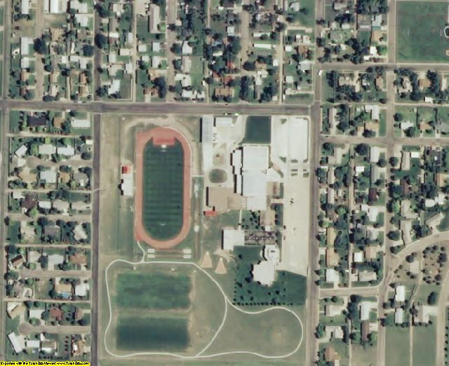 Haskell County, KS aerial photography detail