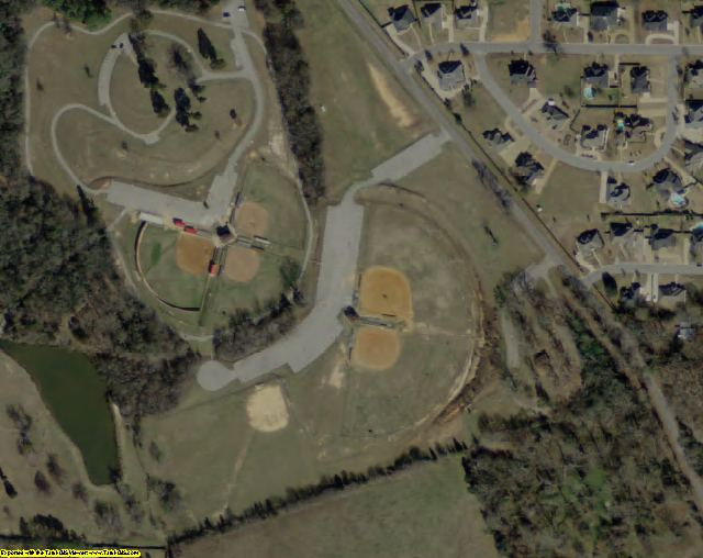 Henderson County, TX aerial photography detail