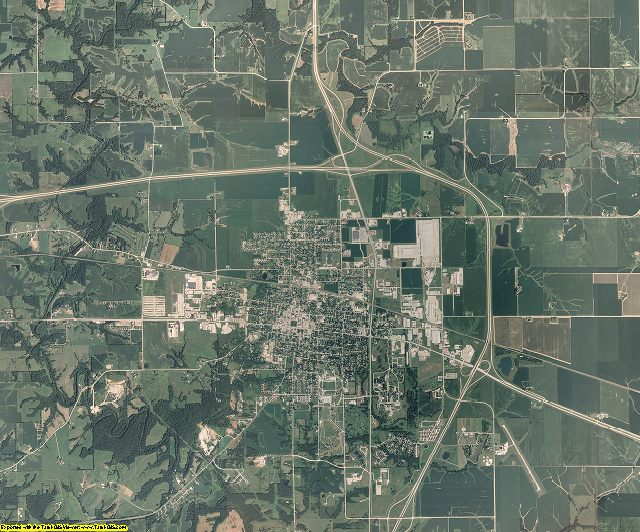 Henry County, Iowa aerial photography