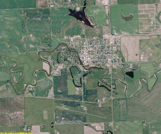 Hettinger County, North Dakota aerial photography