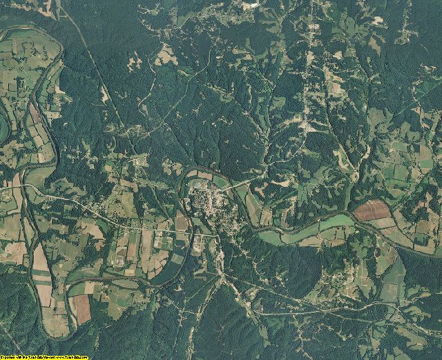 Hickman County, Tennessee aerial photography