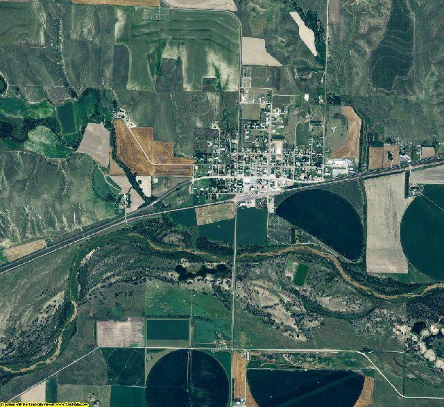 Hitchcock County, Nebraska aerial photography