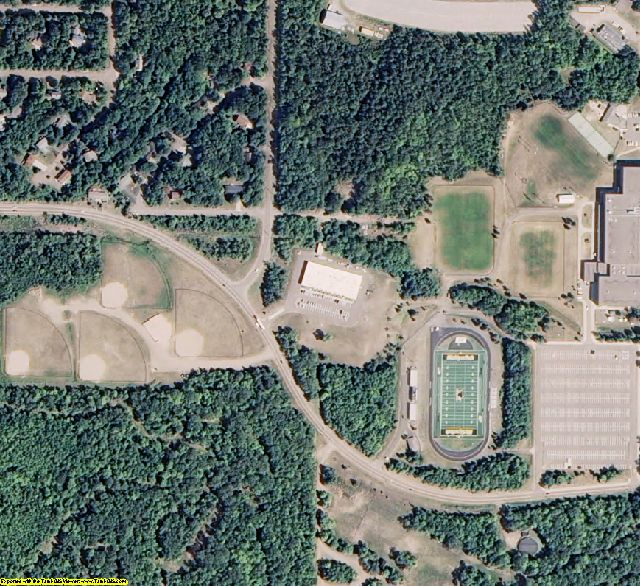Houghton County, MI aerial photography detail