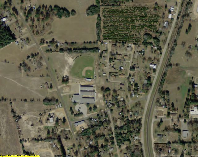 Houston County, TX aerial photography detail