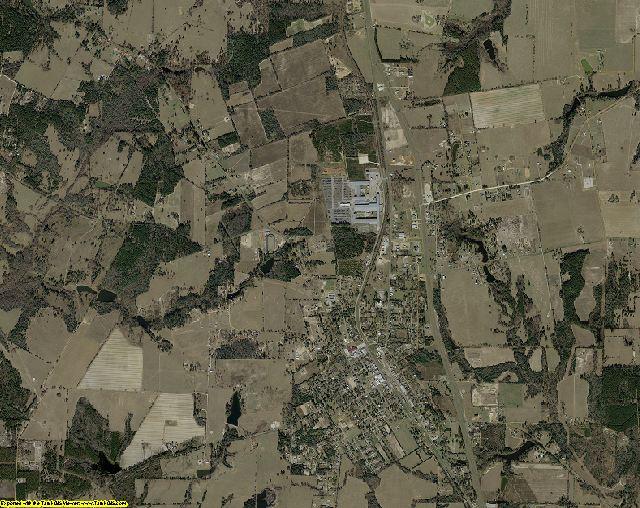 Houston County, Texas aerial photography