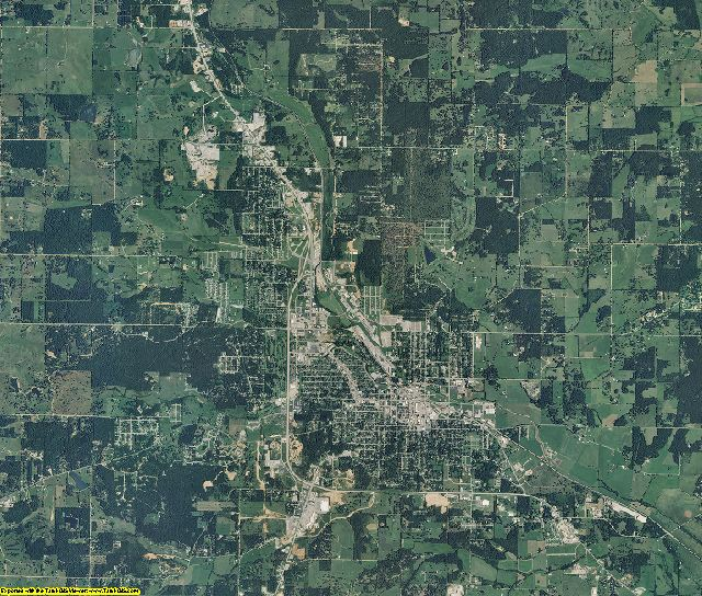 Howell County, Missouri aerial photography