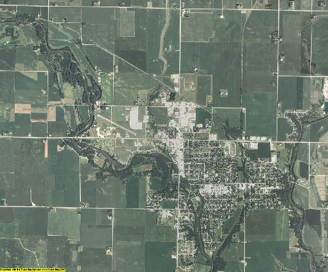 Humboldt County, Iowa aerial photography