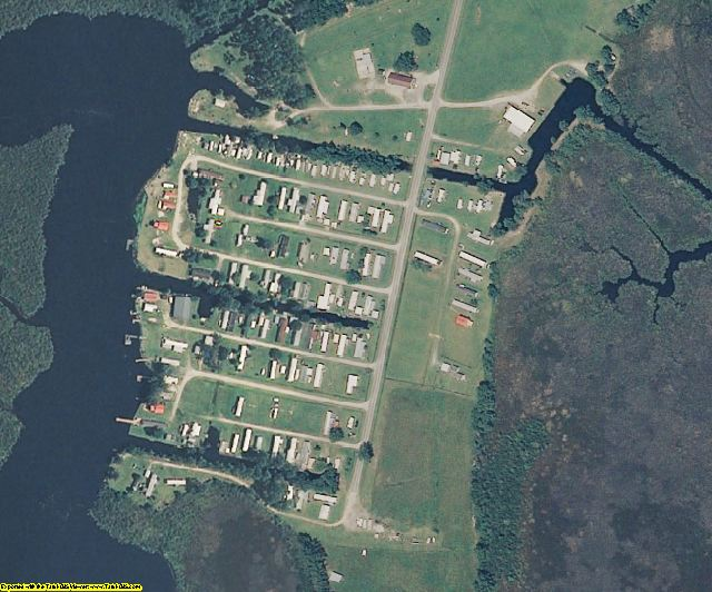 Hyde County, NC aerial photography detail