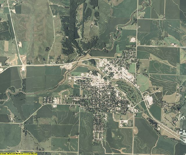 Ida County, Iowa aerial photography