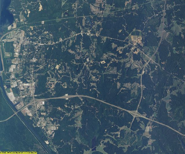 Itawamba County, Mississippi aerial photography