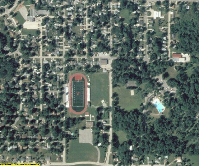 Jasper County, IA aerial photography detail