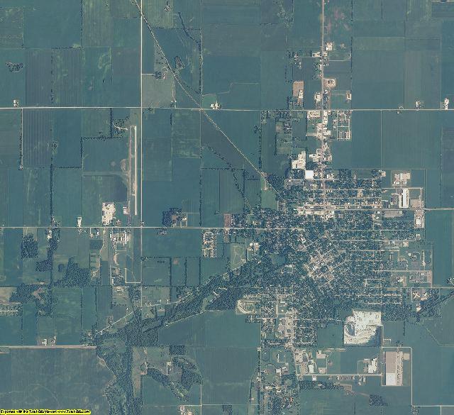 Jasper County, Indiana aerial photography