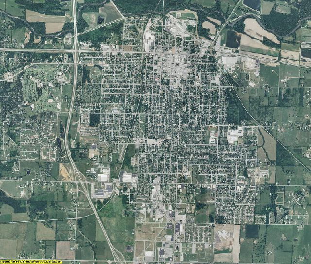 Jasper County, Missouri aerial photography