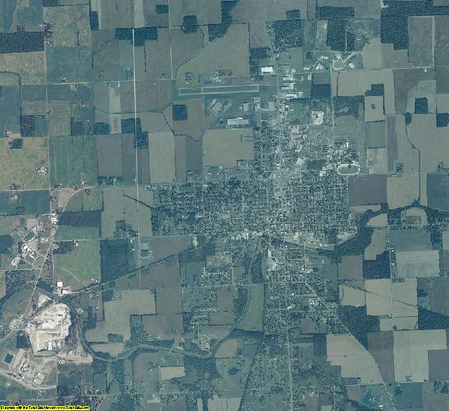 Jay County, Indiana aerial photography