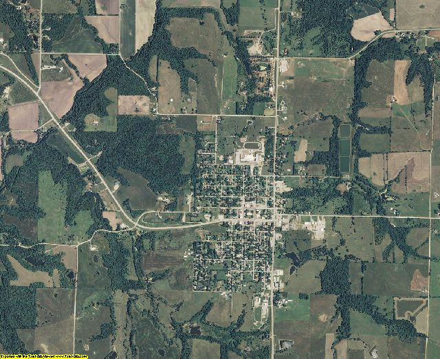 Jefferson County, Kansas aerial photography