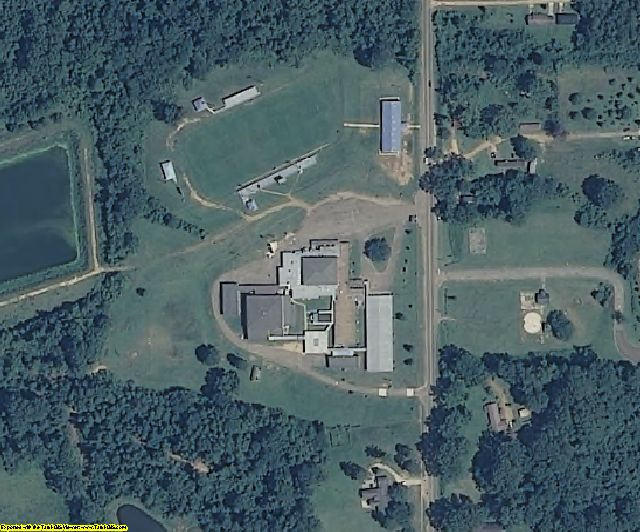 Jefferson County, MS aerial photography detail