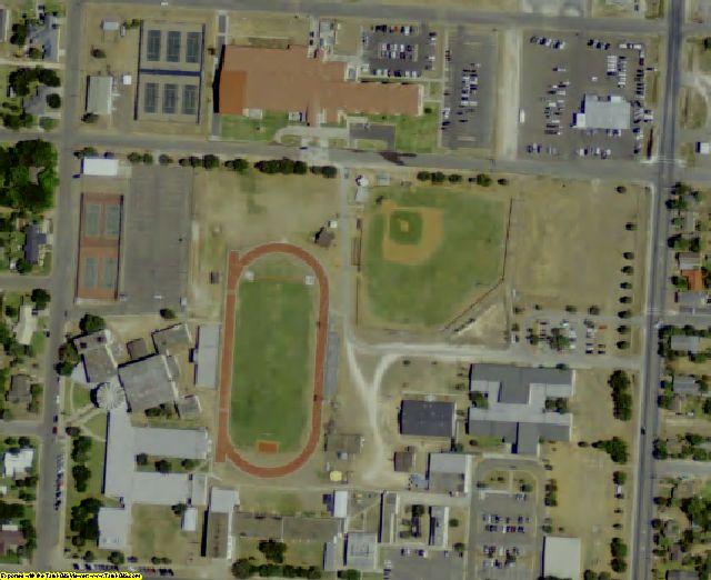 Jim Hogg County, TX aerial photography detail