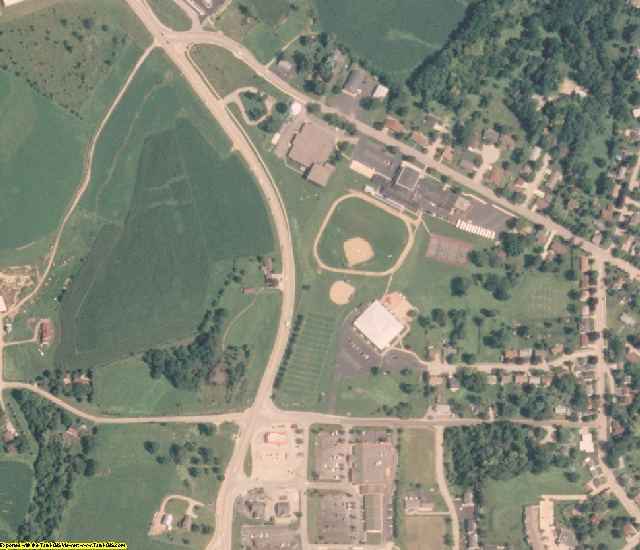 Jo Daviess County, IL aerial photography detail