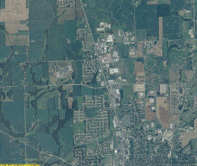 Johnson County, Indiana aerial photography