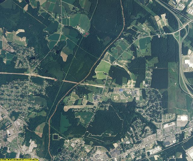Johnston County, North Carolina aerial photography