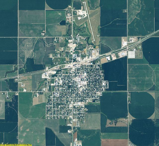 Kearney County, Nebraska aerial photography