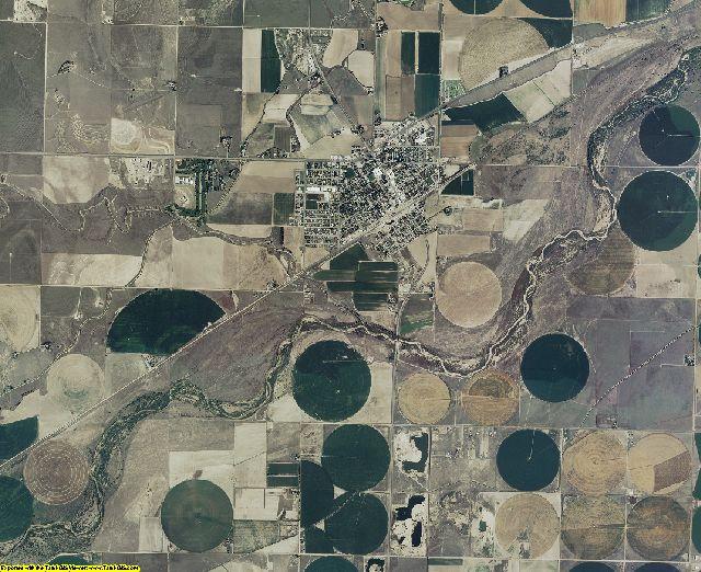Kearny County, Kansas aerial photography