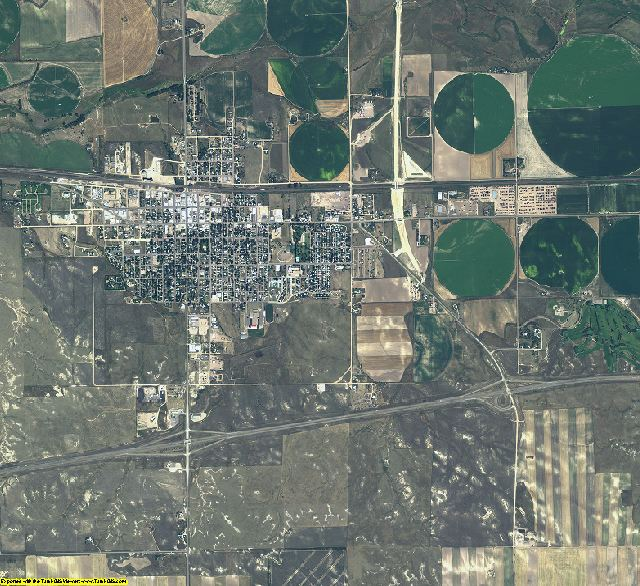 Kimball County, Nebraska aerial photography