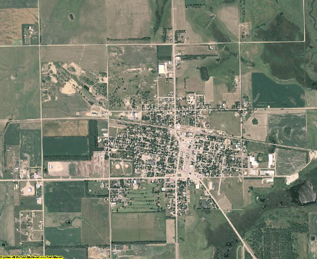 Kingsbury County, South Dakota aerial photography