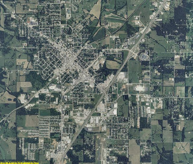 Laclede County, Missouri aerial photography