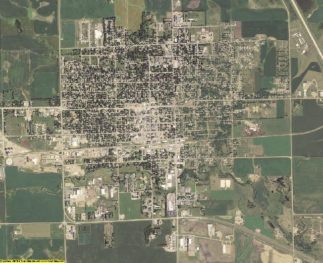 Lake County, South Dakota aerial photography