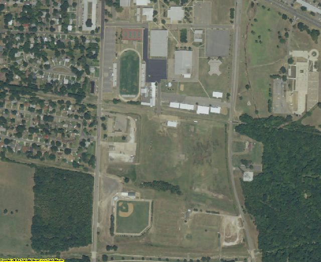 Lamar County, TX aerial photography detail