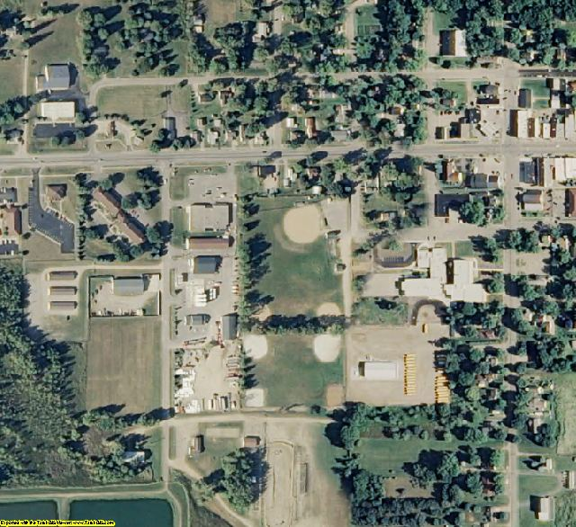 Lapeer County, MI aerial photography detail