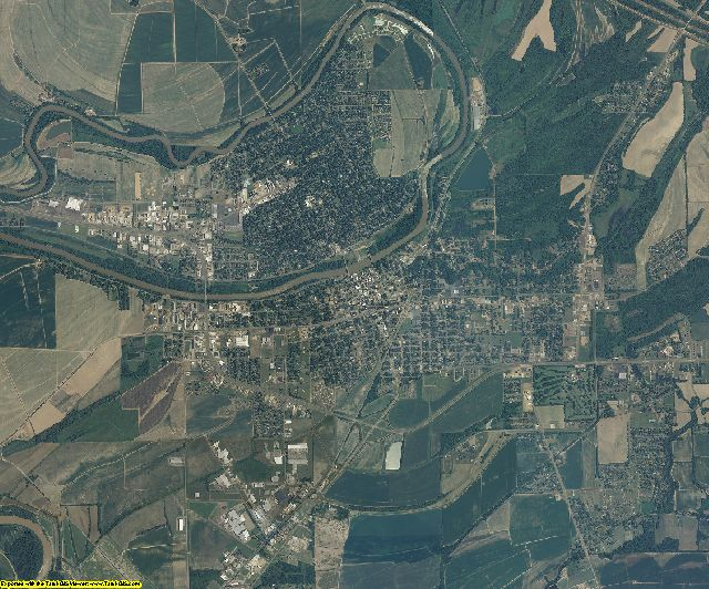 Leflore County, Mississippi aerial photography