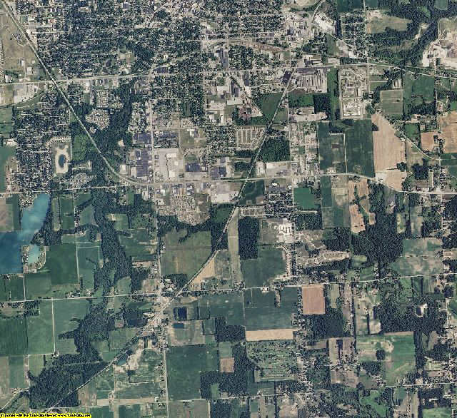 Lenawee County, Michigan aerial photography
