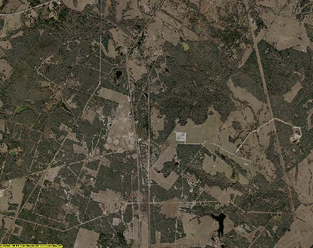 Leon County, Texas aerial photography