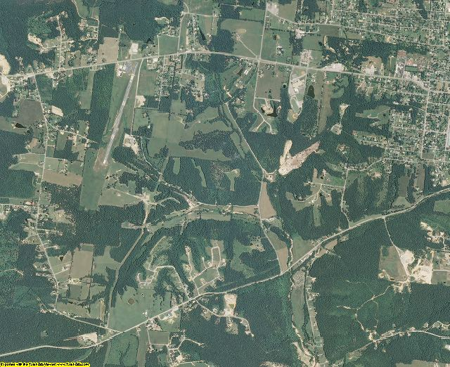 Lewis County, Tennessee aerial photography