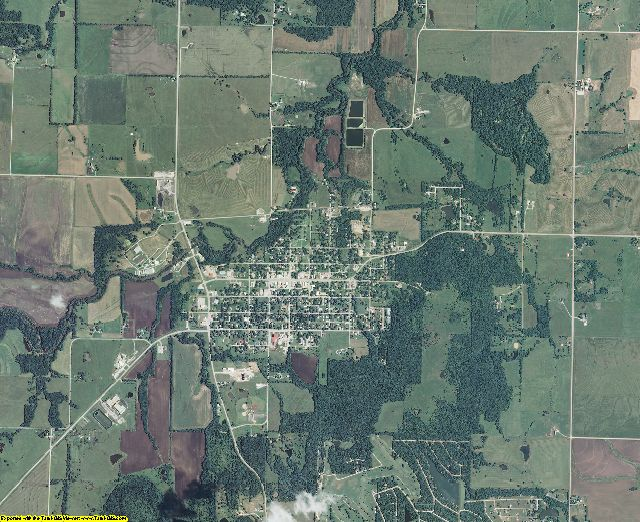 Linn County, Kansas aerial photography