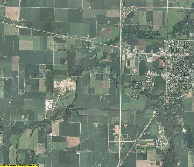 Logan County, Illinois aerial photography