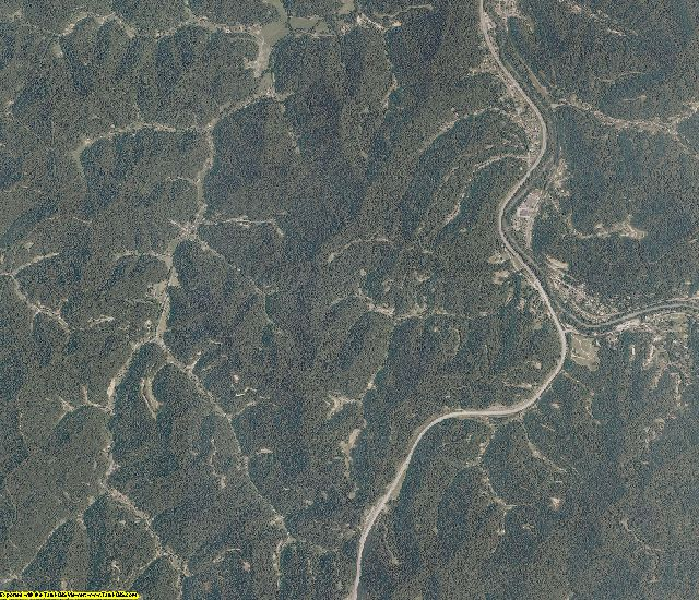 Logan County, West Virginia aerial photography