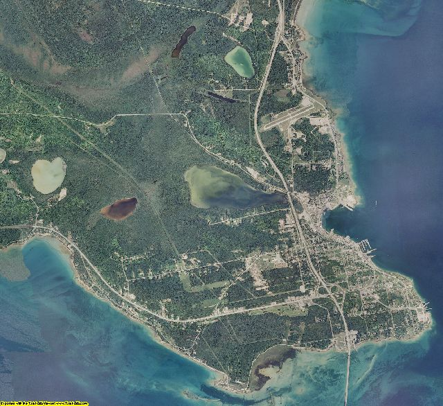 Mackinac County, Michigan aerial photography