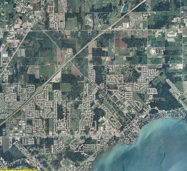Macomb County, Michigan aerial photography
